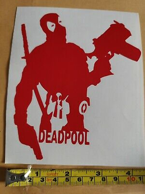 Car Window Decal - Deadpool Vinyl Sticker - Van, Laptop