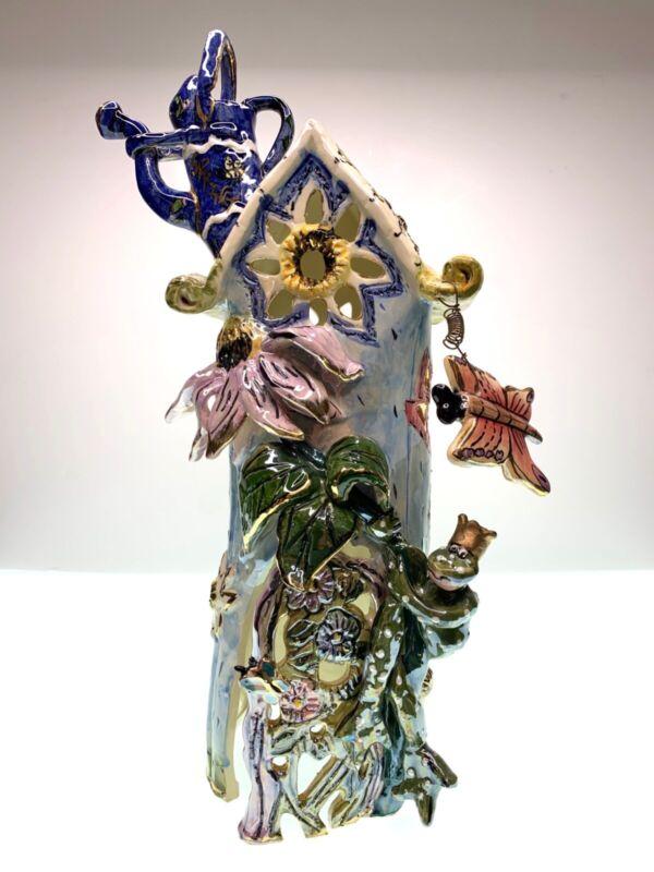 Blue Sky Clayworks by Heather Goldminc Four Seasons Spring Tealight House2000