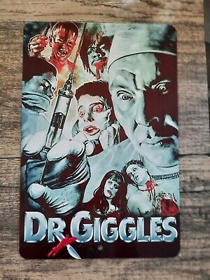 Dr Giggles Horror Movie Artwork 8x12 Metal Wall Sign