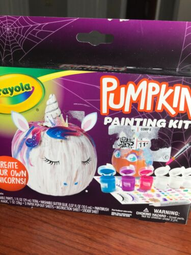 CRAYOLA Pumpkin Painting KIT--MAKE YOUR OWN UNICORNS!  Inc. everything you need!