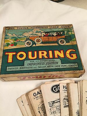 Vintage Touring Game Famous Automobile Card Game Parker Brothers