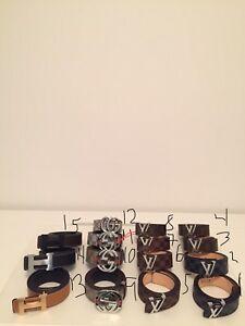 Ceintures Gucci Louis Vuitton et hermès