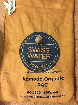 5 lbs. Komodo Certified ORGANIC DECAF Green Coffee Bean Swiss Water Process 2018 ()