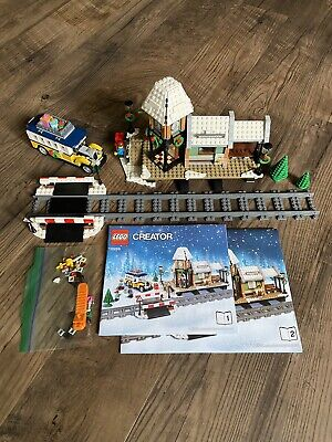 Complete Lego Set 10259 Winter Village Station Train Holiday Christmas Bus Child