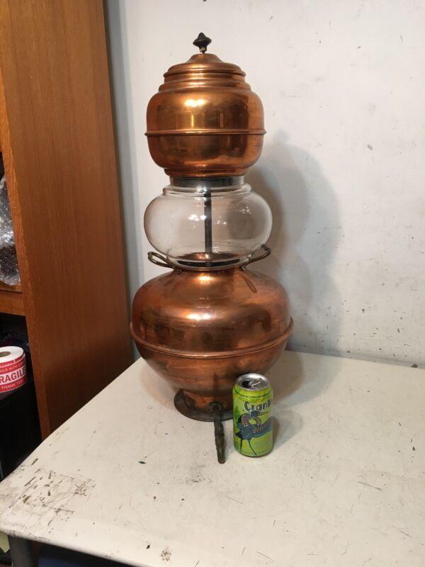 Huge Antique Heinrichs Copper Percolator Pharmaceutical Scientific 1907