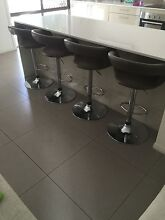 4 x brown leather bar stools $100 for all 4 Ashmore Gold Coast City Preview