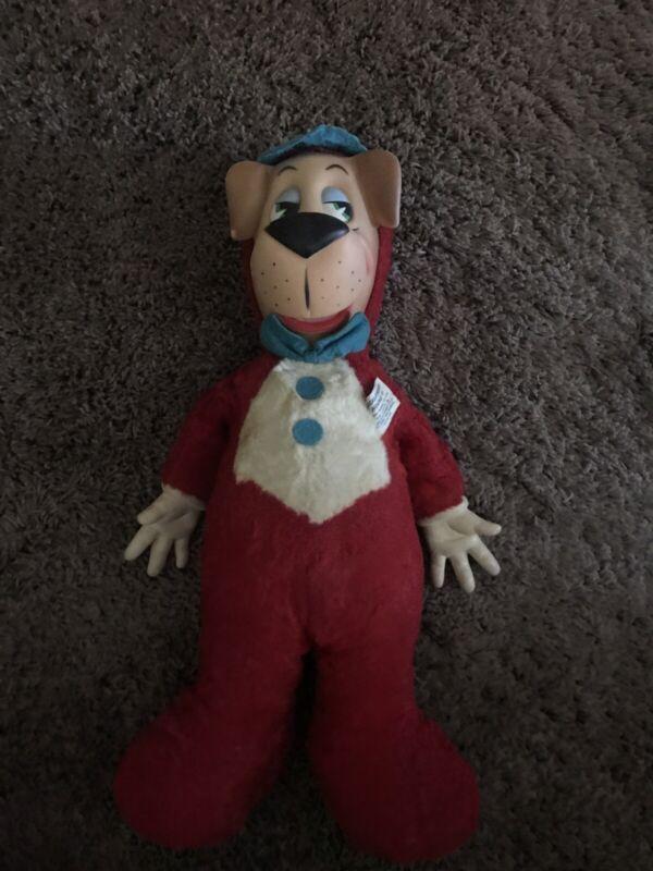 "Vintage 1959 Huckleberry Hound 18"" Stuffed Plush Doll Knickerbocker Toy Company"