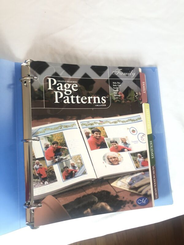Lot Creative Memories Page Patterns And Crop Talks w/ Blue Binder FREE SHIPPING