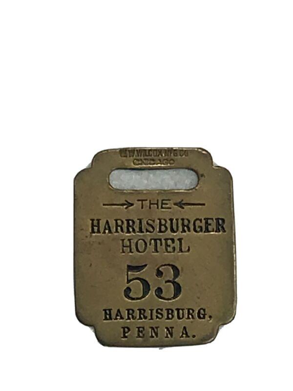 Vintage Harrisburger Hotel Harrisburg Pa Room Key Fob R(613)