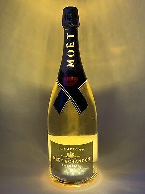 Moet Chandon Impérial LED Golden Light Up Champagner 1,5l Magnum Flasche 12% Vol