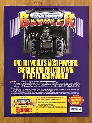 1994 Epoch Barcode Battler Console Print Ad/Poster Authentic Retro Vintage Art!