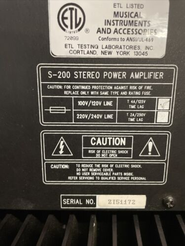 3 Rodgers S-200 Power Amplifiers - $89.00