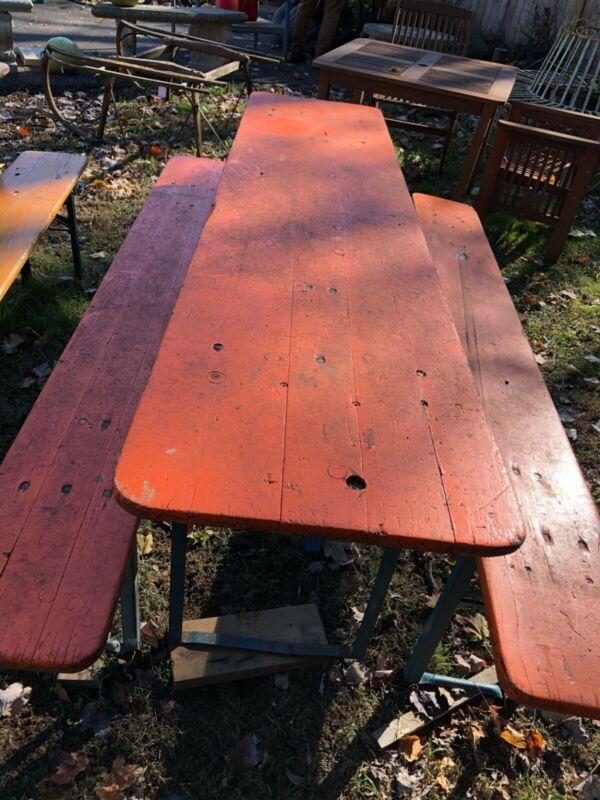 2 Vintage Beer Garden Tables