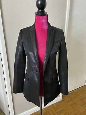 Armani Exchange Black Shiny Blazer 2