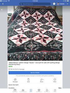 Homemade Queen size quilt