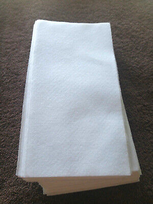 30 Disposable Paper Guest Hand Towels Thick Napkins For Dinne,Clean up etc White