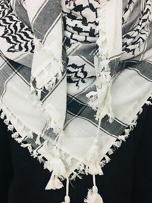 Scarf  Keffiyeh-- Arabic Scarf 100% Cotton Keffiyeh Arab Scarf