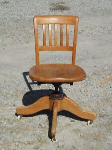 SWIVEL CHAIR, Solid Oak (antique)