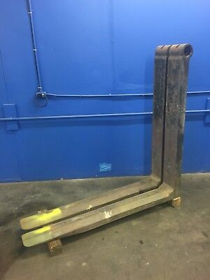 Steel Coil Chamfered Forklift Forks30000 Lb. Capacityontario Calif.