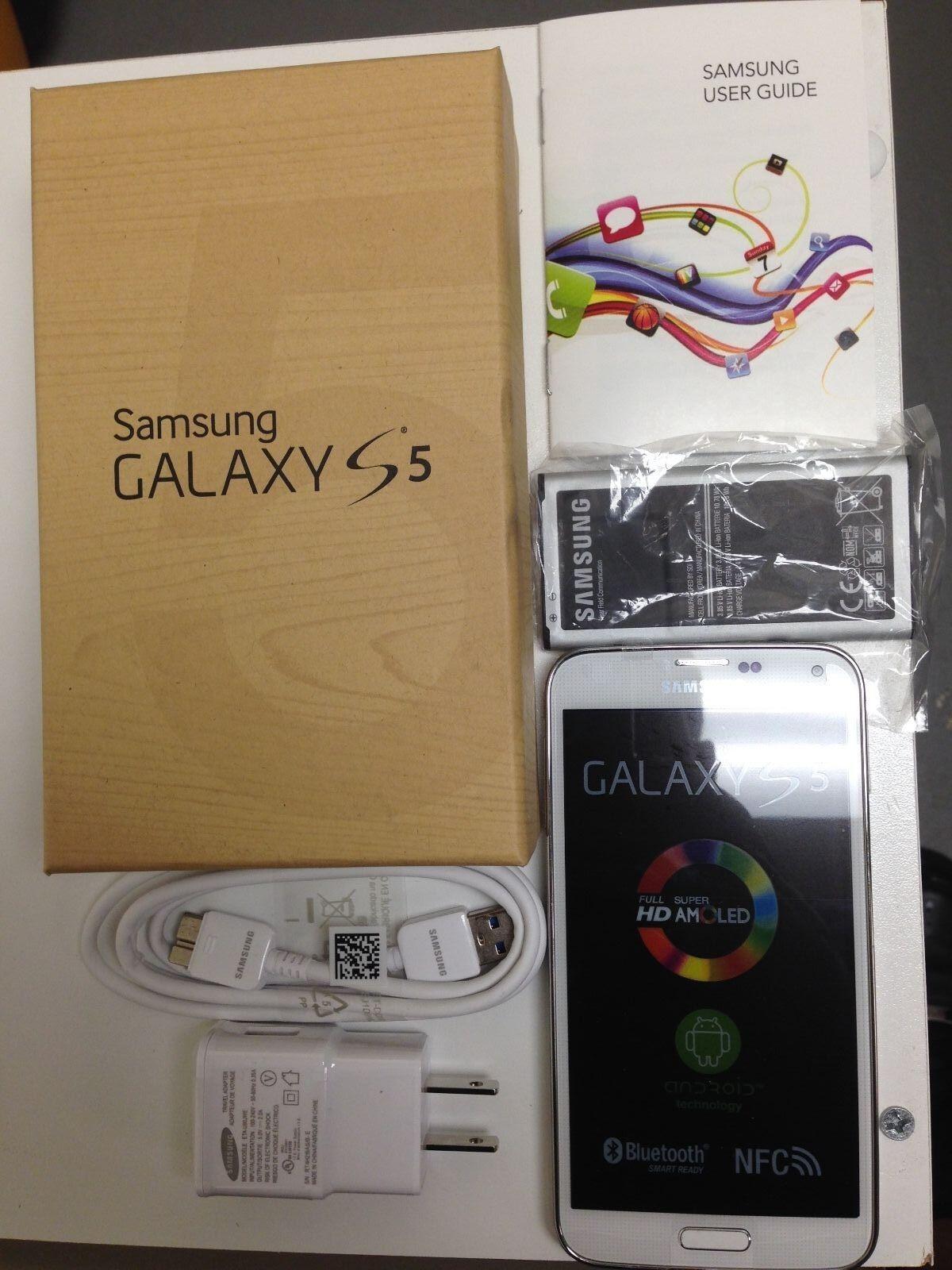 $155.99 - New In Box Samsung GALAXY S5 SM-G900V WHITE VERIZON Android PHONE