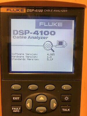 Fluke Dsp-4100 Cat5e Cable Tester Digital Cable Analyzer
