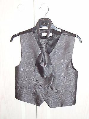Boys grey waistcoat and tie