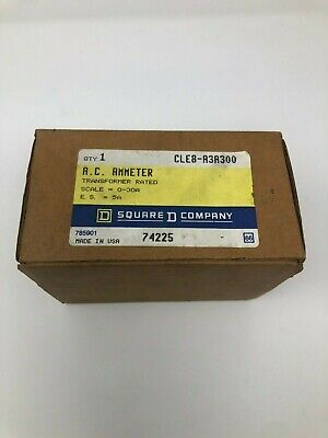 New Square D Cle8-a3a300 A.c. Ammeter 0-30a Panel Meter