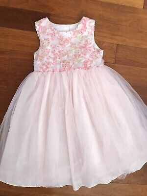 Special Occasion Girls Kids Rosette Bridal Flower Easter Girls Dress sz 6X 6 EUC Childrens Occasion Dresses