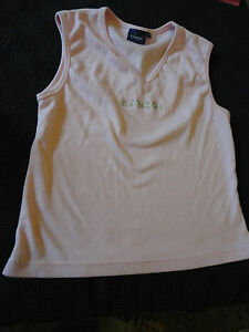 Pink-Sleeveless-Kangol-V-Neck-T-Shirt-Top-in-Size-16-NWOT-Chest-40-42