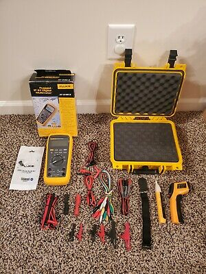 Fluke 27ii Multimeter Brand New Hard Case Magnet Temp Gun Many New Access.