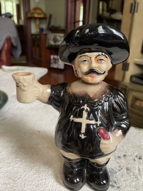vintage Decanter Musketeer ceramic Decanter Anthos Aramis Porthos Japan
