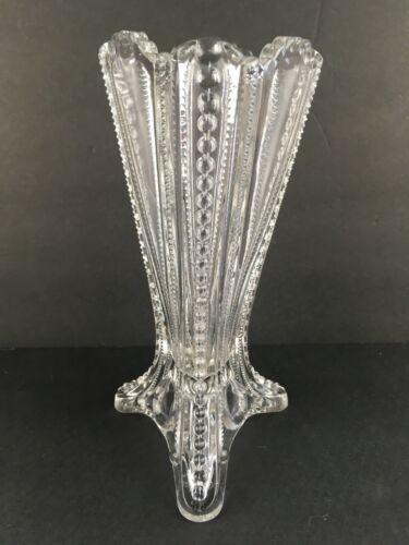 EAPG Imperial Tri-Corner Vase Clear
