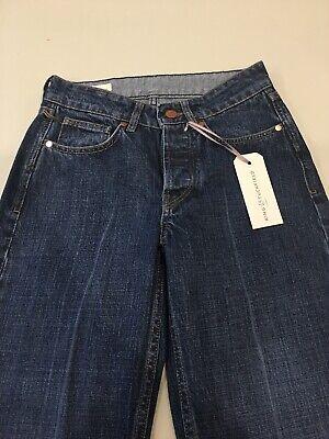 King & Tuckfield. Selvedge jeans. Joan crop. Dark Stone creased. Size 26.