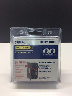 Square D Qo2100c Miniature Circuit Breaker - 100 A 2 Pole 120240 Vac