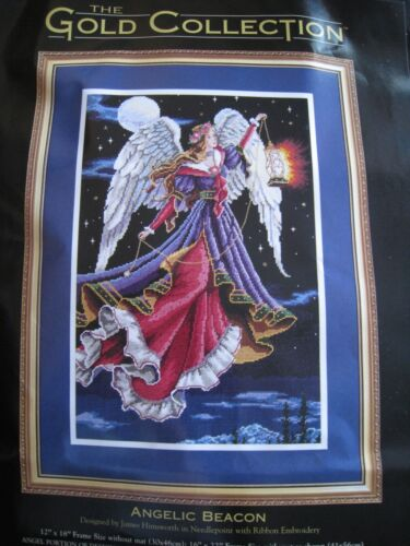Dimensions GOLD COLLECTION Needlepoint PICTURE Kit,ANGELIC BEACON,Angel,2449,USA