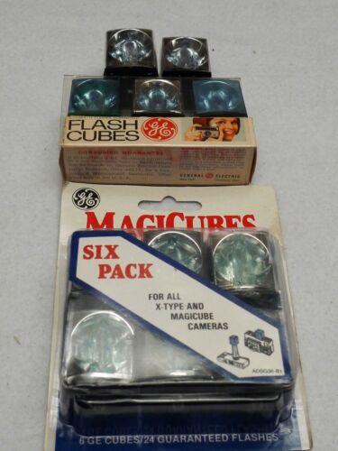 11 Flash Cubes, GE/Sylvania Blue Dot & Magic Cube -- IOB