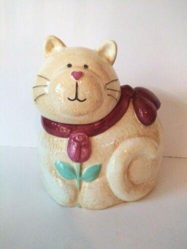 Vintage Ceramic Cat Kitty Large Cookie Jar Treasure Craft USA By Susan Marie