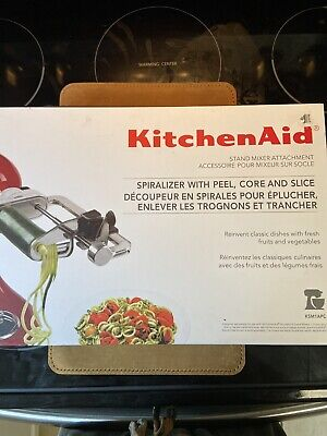 Kitchen Aid Spiralizer With Peel, Core and Slice 7 Blades mixer attachment