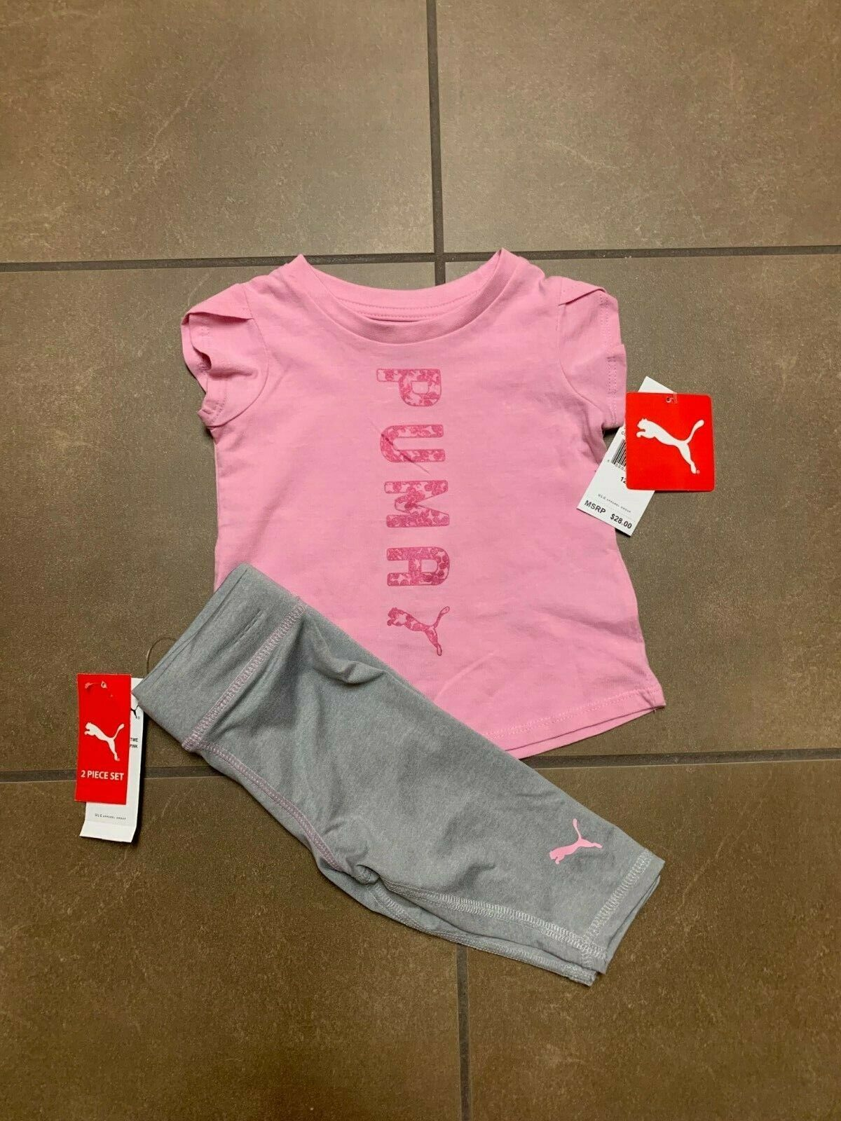 Puma Baby Girl 2Pc Set Top And Leggings Size 12 Month Brand