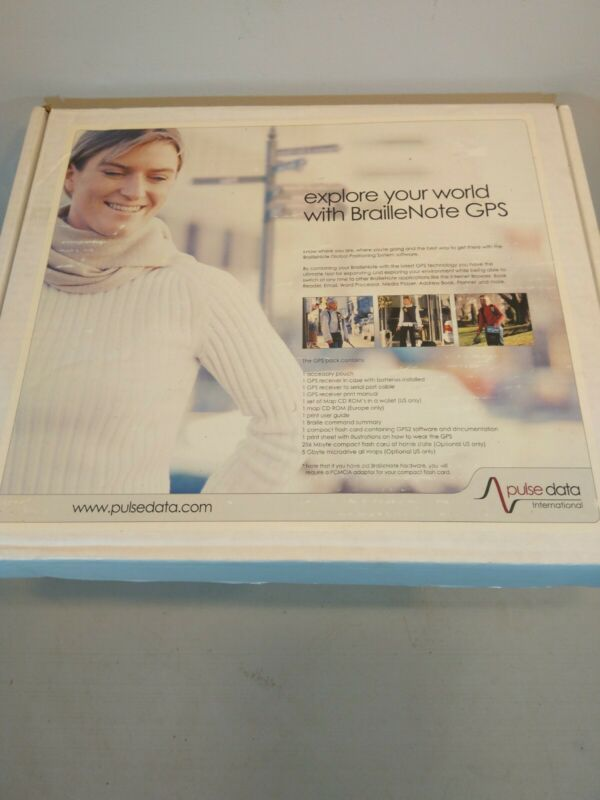 BrailleNote GPS Humanware, pulse data international.