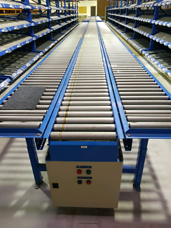 Huge Motorised Roller Conveyor System and Shelving with Roller