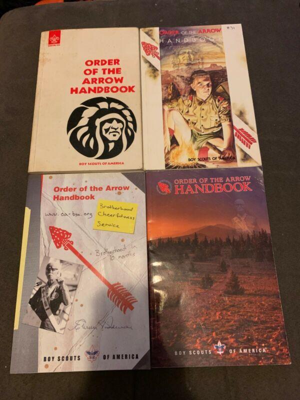 Lot of 4 Order of the Arrow Handbooks OA BSA 1977 1996 2002 2008