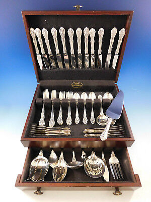 King Edward von Gorham Sterlingsilber Flatware Set für 12 Service 86 Teile Gorham Sterling King Edward
