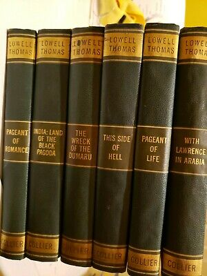 Lowell Thomas Adventure Library 6 Volume Set by Collier with Original Photos
