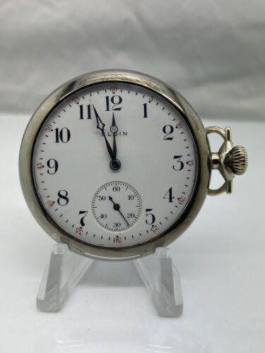 1913 Elgin 312 Model 6 Class 109 16S 15J Half Hunter Case Pocket Watch (V15)