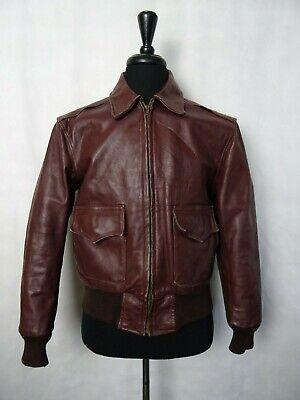 Men's Vintage Paddock Sportswear San Fransisco Leather Jacket 40R (S)