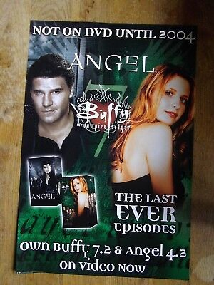 BUFFY THE VAMPIRE SLAYER / ANGEL PROMO POSTER