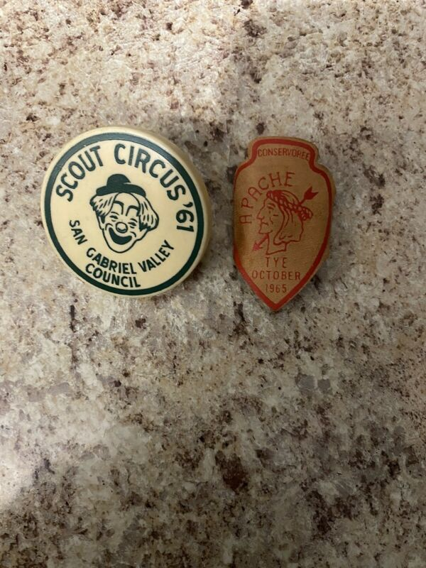 Lot Of Two Vintage Neckerchief Slides