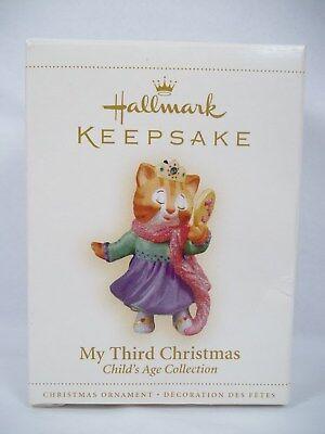 Hallmark 2006 Child My Third Christmas Ornament Age Kitten  Girl Childs Third Christmas Ornament