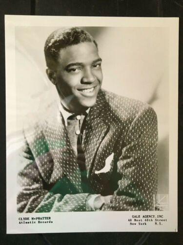 Clyde McPhatter original vintage headshot press photo